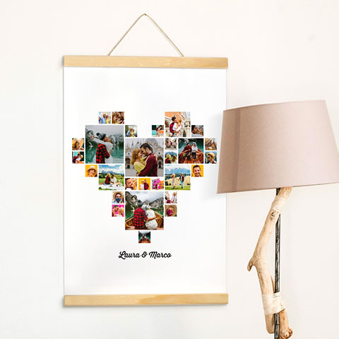 Poster Collage Cuore